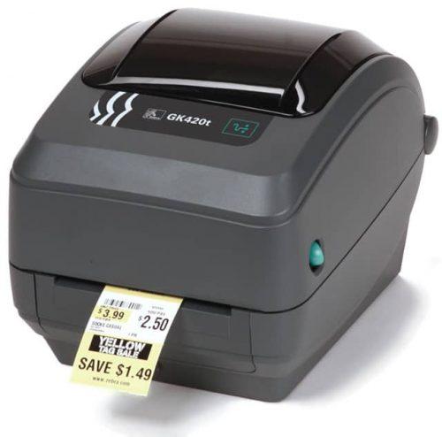 Zebra GK420t Thermal Barcode Label Printer (GK42-102210-00GA)