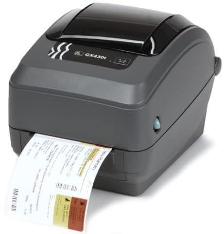 Zebra GX430t Thermal Barcode Label Printer (GX43-102521-000)