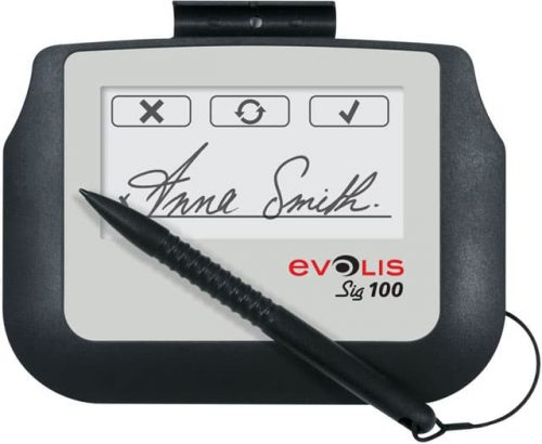 Evolis Sig100 1.85 x 3.75 Monochrome Signature Capture Pad (ST-BE105-2-UEVL)